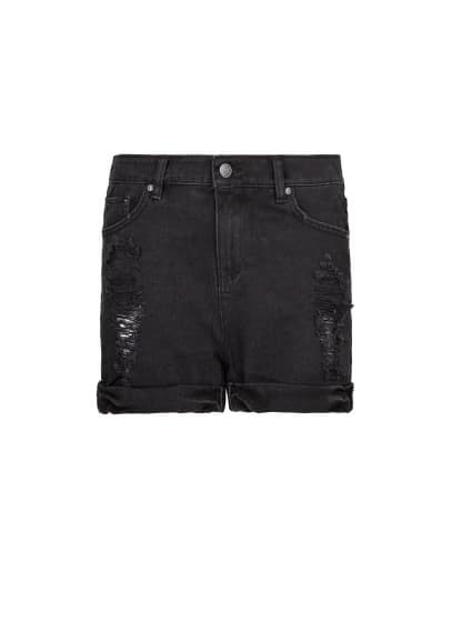 Short denim noir