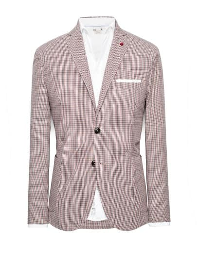 Unstructured check blazer