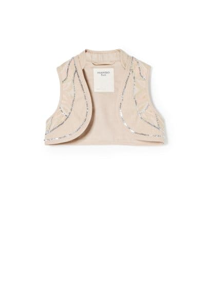 Sequin embroidered vest