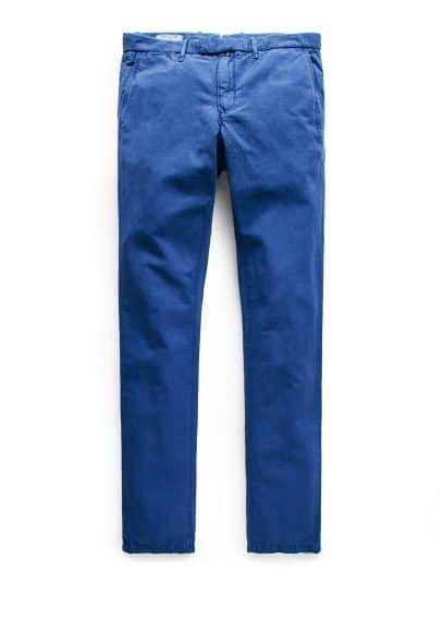 Pantalon chino slim-fit en lin garment-dyed