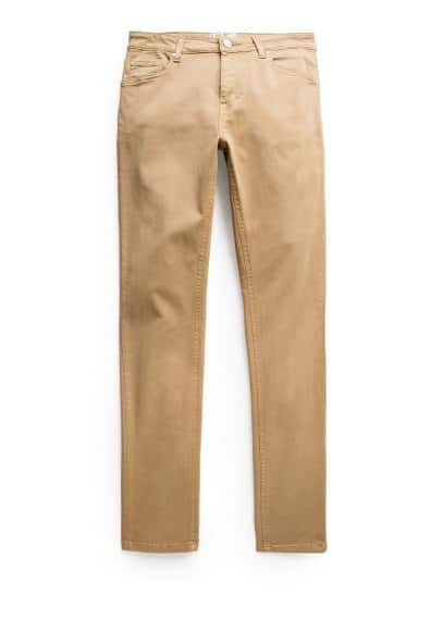 Jeans Patrick super slim color beige scuro