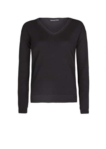 Pullover basic collo a V