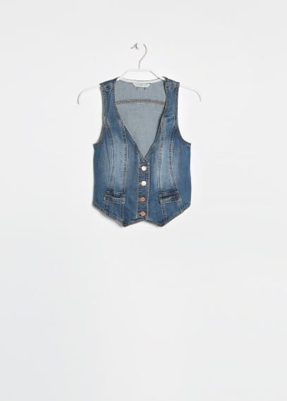 Medium denim gilet