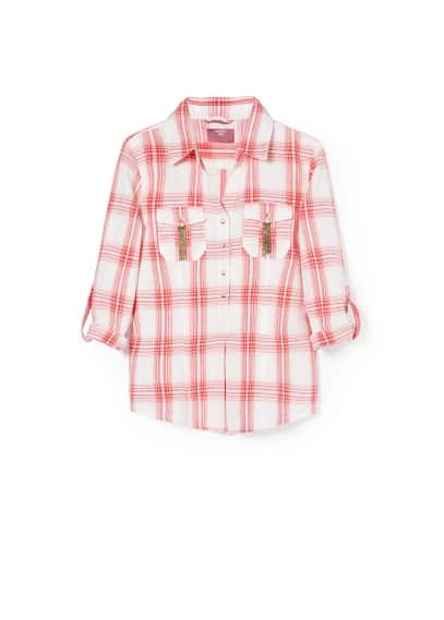 Sequined check shirt