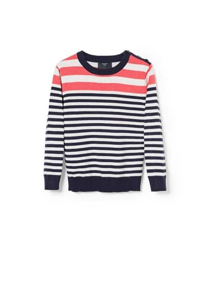 Bicolor stripe sweater