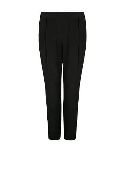 Pleated baggy trousers