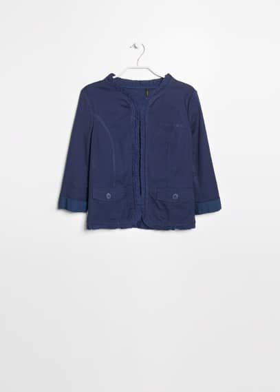 Flounced trim jacket
