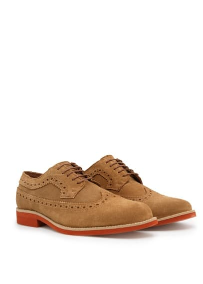 Suede brogue blucher