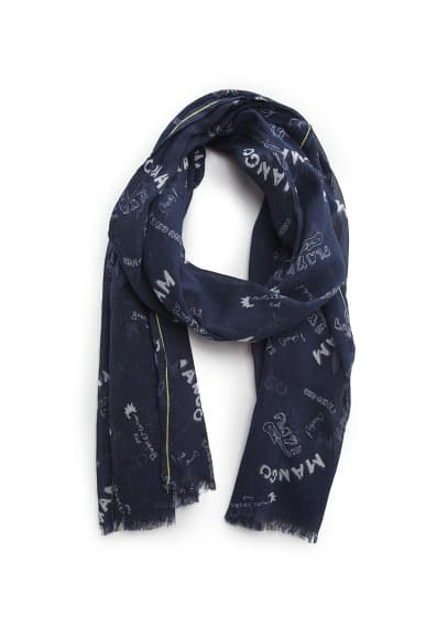 Rock printed scarf