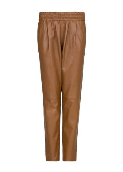 Leather baggy trousers