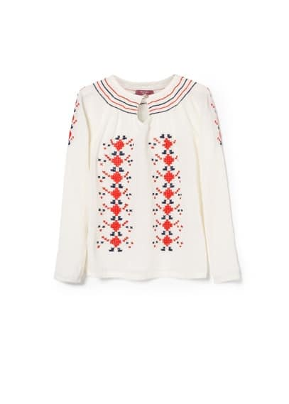 Cross-stitch blouse