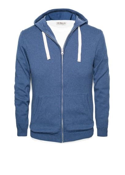 Hooded cotton-blend cardigan