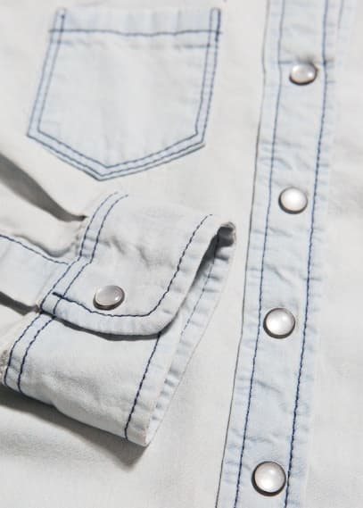 Knot denim shirt