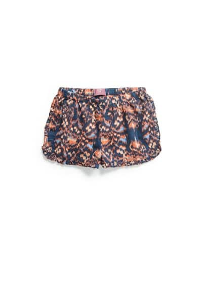 Animal ikat shorts