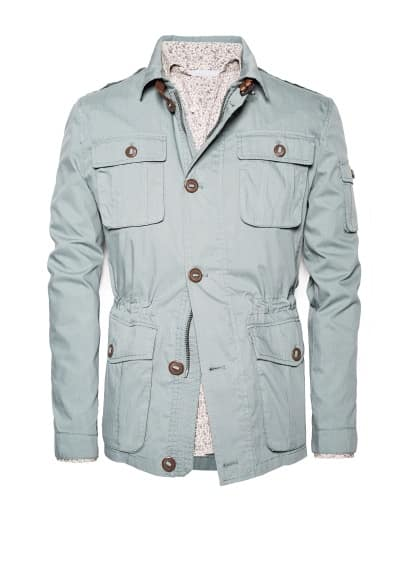 Katoenen field jacket