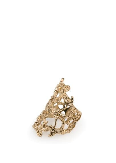 Baroque metal ring