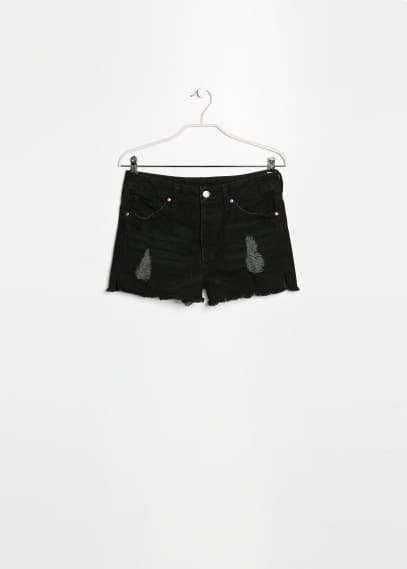 Short denim neri