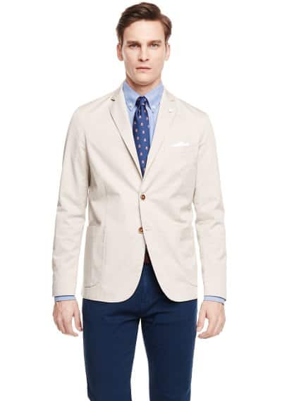 Unstructured cotton blazer