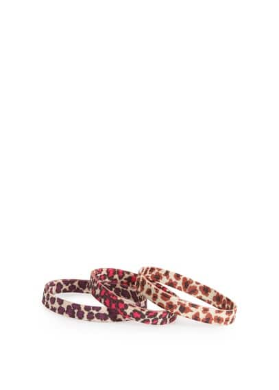 Leopard hair ties pack