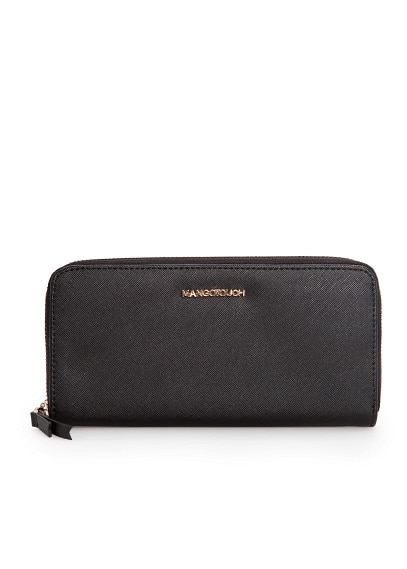 Zip saffiano-effect wallet