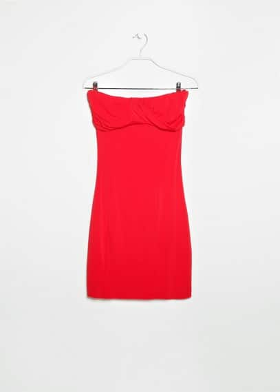 Draped detail dress