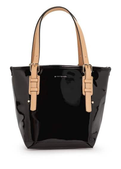 Sac shopper verni