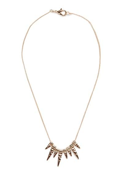 Embossed spike necklace
