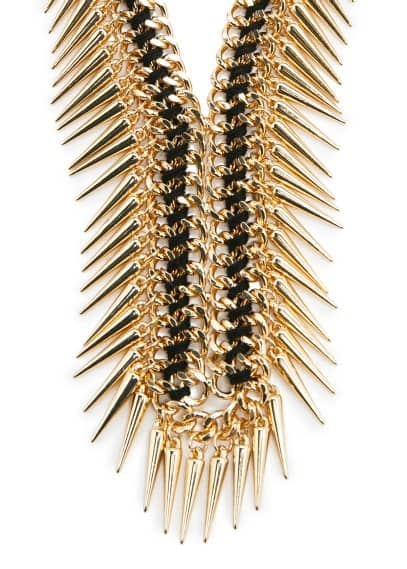 Waterfall spike necklace