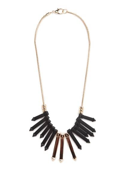 Bicolor arrow necklace