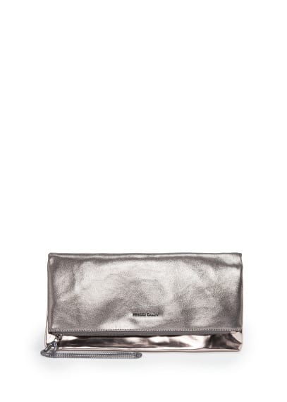 Metallic folded clutch