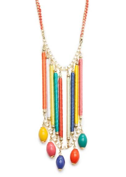 Multicolor waterfall necklace