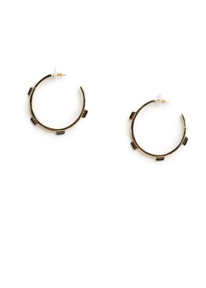 Appliqué hoop earrings