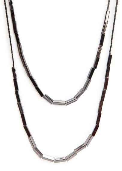 Double chain beaded necklace