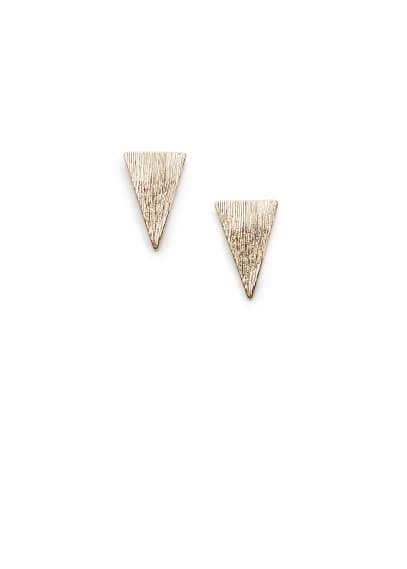 Brushed finish triangle earrings