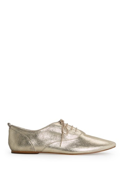 Metallic leather oxford shoes
