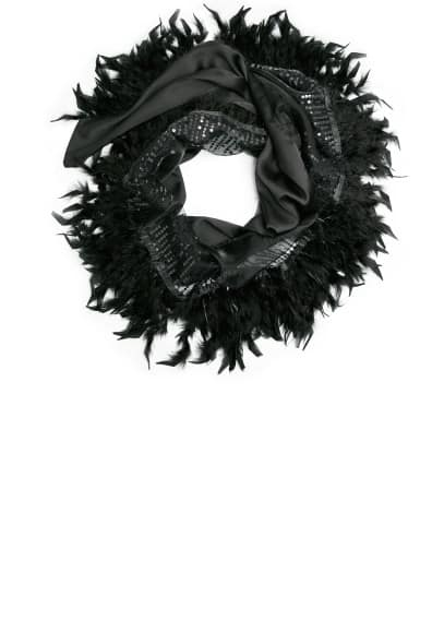 Feather fantasy scarf