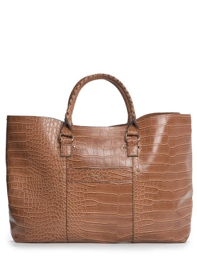 Shopper-Tasche in Kroko-Optik
