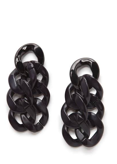 Flat link earrings