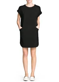 Pocket ponte shift dress