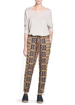 Printed baggy trousers
