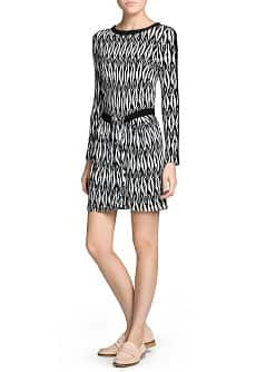 Crepe appliqué monochrome dress