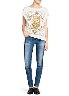 Lion baroque print t-shirt
