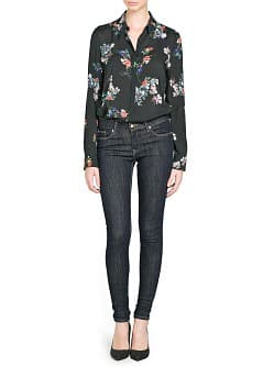 Super slim-fit dark jeans