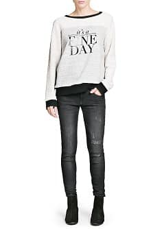 Sweat-shirt coton fine day