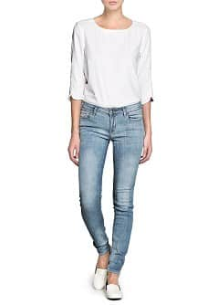 Super Slim Fit Jeans gebleicht