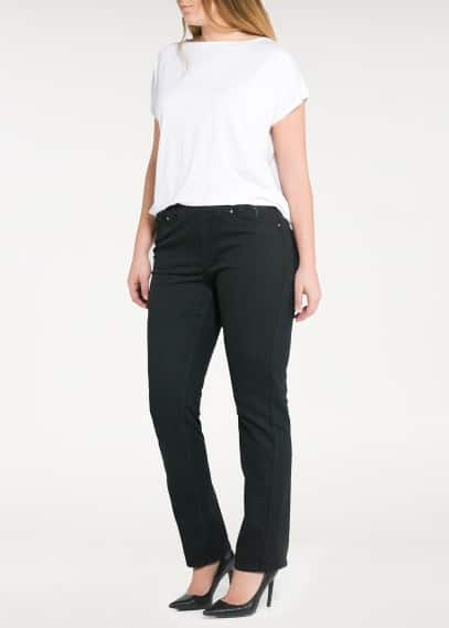 Straight-fit denim leggings