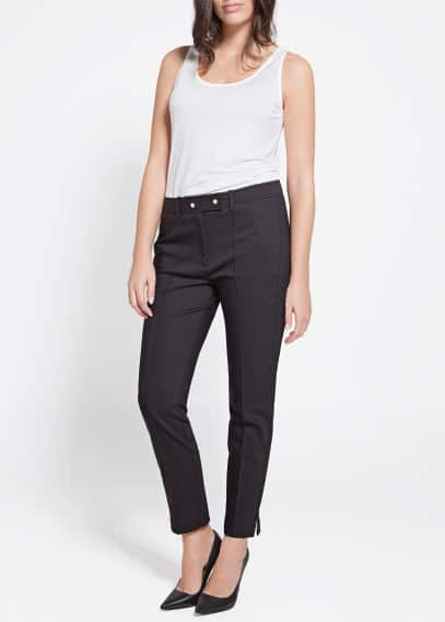 Pleated slim-fit trousers