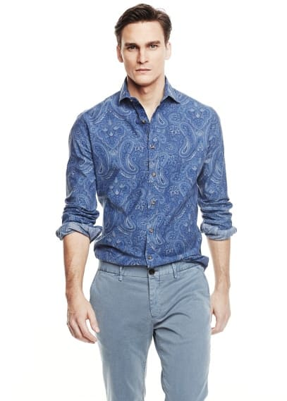 Camisa slim-fit estampado paisley