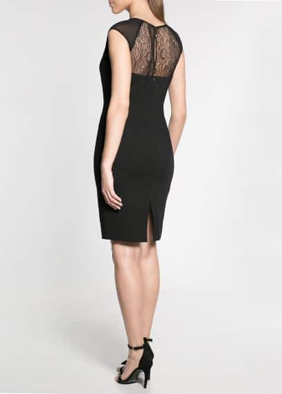 Blond lace ponte dress