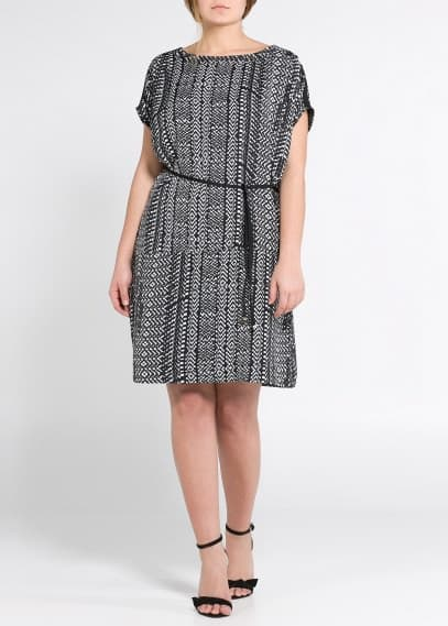 Monochrome print dress